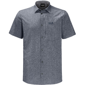 Jack Wolfskin Barrel Fietsshirt Korte Mouwen Heren, pebble grey